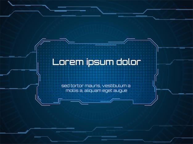 Sci fi futuristische gebruikersinterface frame vector illustratie