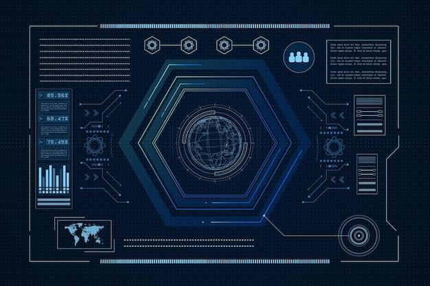 Sci fi futuristische gebruikersinterface hud technologie abstracte achtergrond vectorillustratie