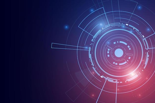 Sci fi futuristische gebruikersinterface, hud, technologie abstracte achtergrond