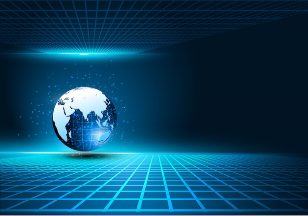 Sci-fi tech cyber futuristische ontwerp concept achtergrond