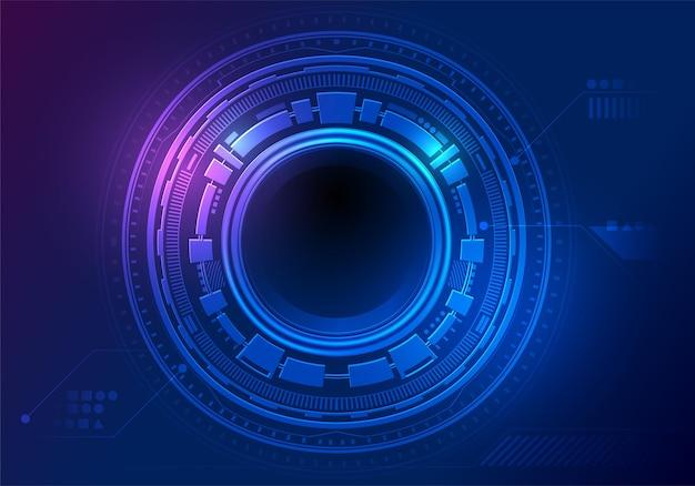 Sci fi technologie digitaal netwerk kunst background.circuit futuristisch concept, vector illustratie run