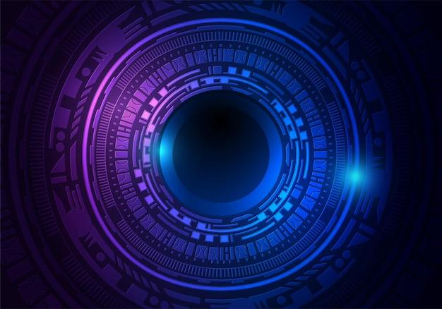 Sci fi technologie digitaal netwerk kunst background.circuit futuristisch concept, vectorillustratie