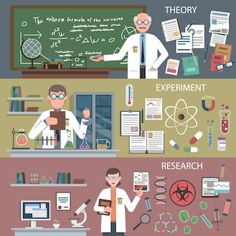 Science banner set