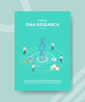 Science dna-onderzoek flyer-sjabloon