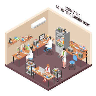 Science lab environment-compositie