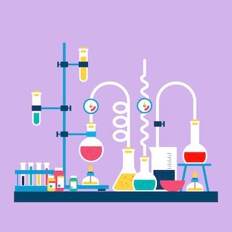 Science lab in plat ontwerp