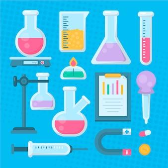 Science lab-objecten instellen