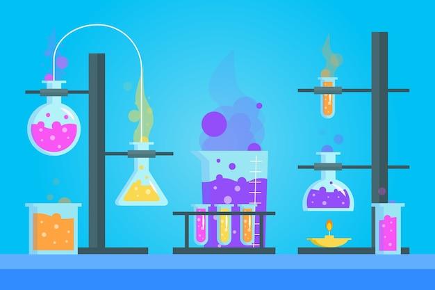 Science lab plat ontwerp