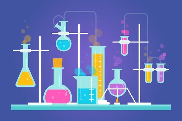 Science lab vlakke stijl