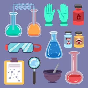 Science laboratorium-objecten