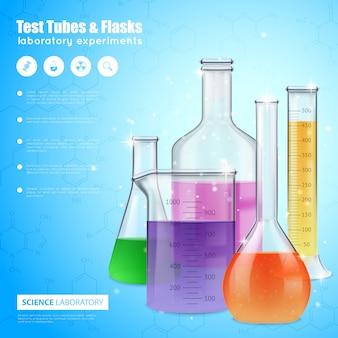 Science laboratory-sjabloon