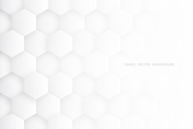 Science technologic 3d zeshoeken minimalistisch wit