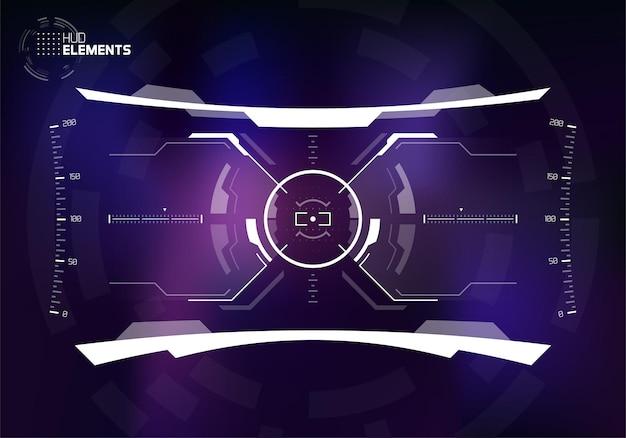 Scifi-gebruikersinterface display-ontwerp voor futuristisch leger en ruimteschip hud