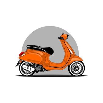 Scooter illustratie
