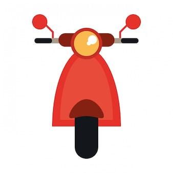 Scooter motorcyle vooraanzicht