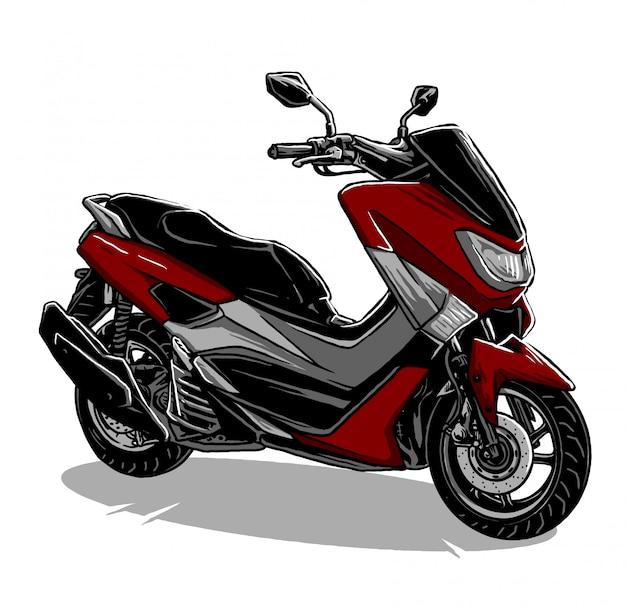Scooter motorfiets vector