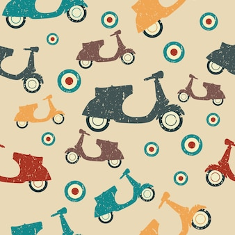 Scooter naadloze patroon