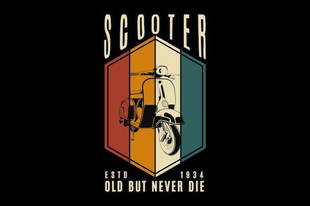 Scooter, ontwerp sleety stijl.