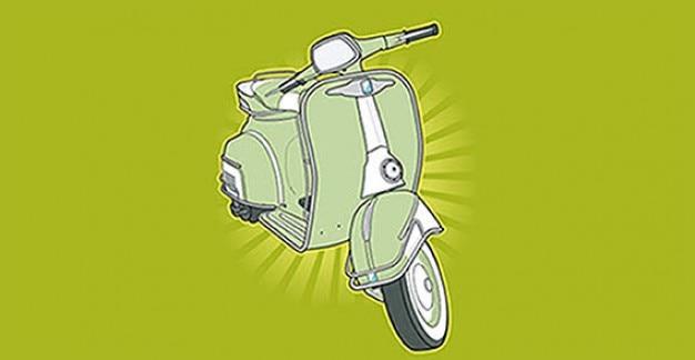 Scooter vrije vector