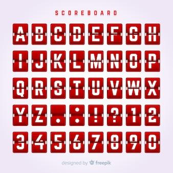 Scorebord alfabet