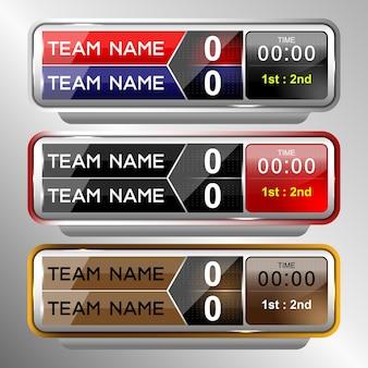 Scorebord uitzending grafische en lagere thirds-sjabloon