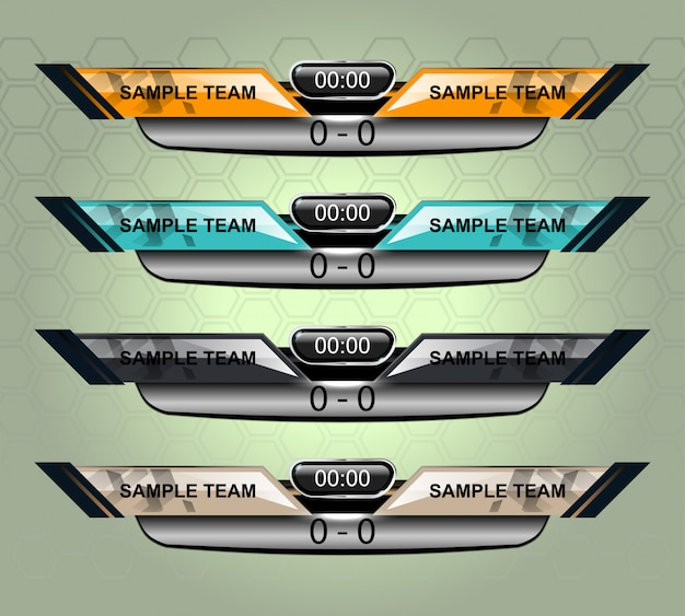 Scorebordsportsjabloon voor voetbal en voetbal