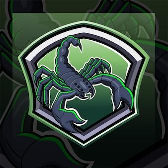 Scorpion esport mascotte logo ontwerp