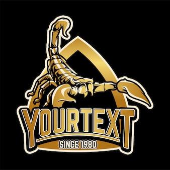 Scorpion-logo-badge gouden kleur