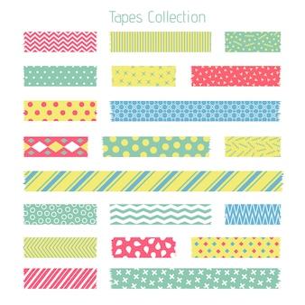 Scotch met trendy geometrisch patroon. plakband voor plakboekset