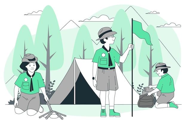 Scouts concept illustratie