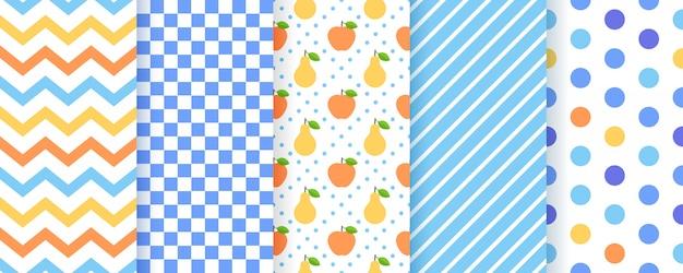 Scrapbook, naadloze patroon. geometrische prints.