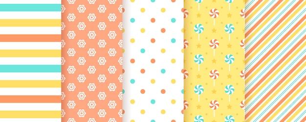 Scrapbooking achtergrond. naadloos patroon. illustratie. geometrische prints.