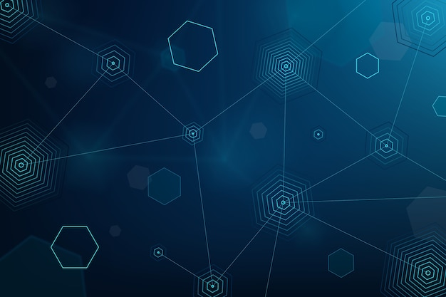Screensaver met futuristische technologie