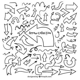 Scribble gekrabbel collectie