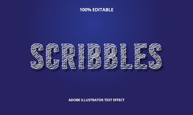 Scribbles text effect premium