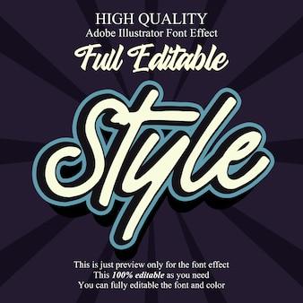 Scriptstijl bewerkbaar typografie lettertype-effect