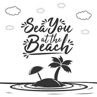 Sea you op het strand