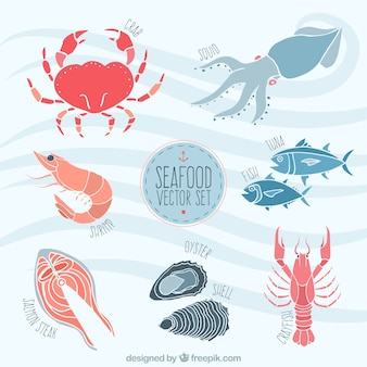 Seafood illustratie