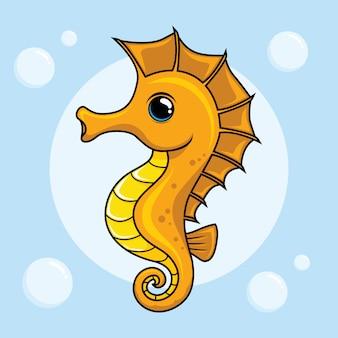 Seahorse cartoon schattige dieren sea horse