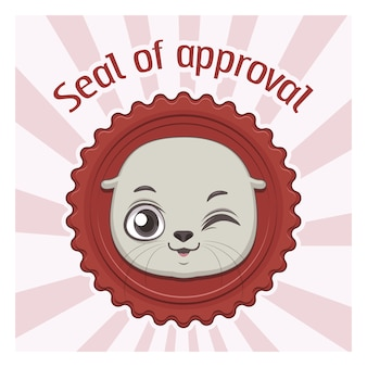 Seal of approval background