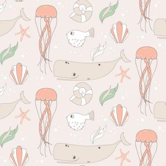 Sealife patroon ontwerp