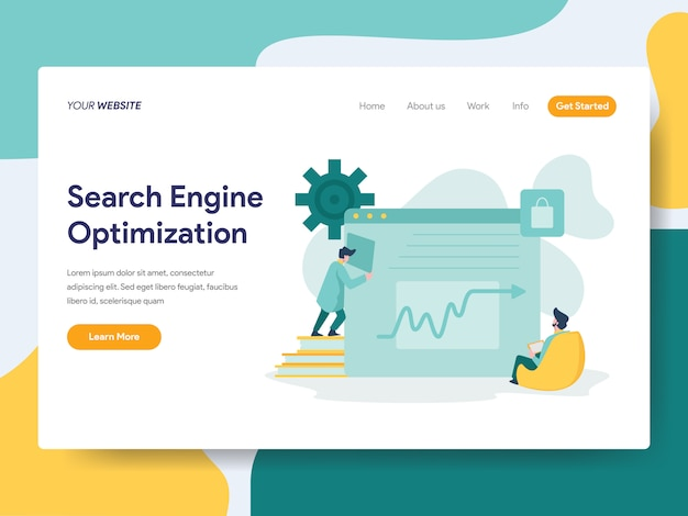 Search engine optimization for website page