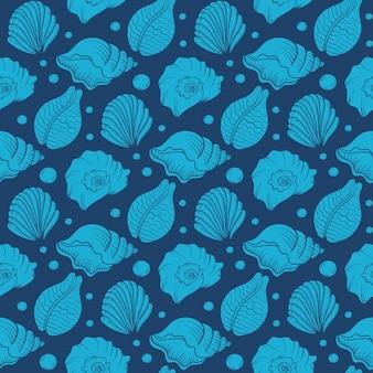 Seashell parel naadloze patroon