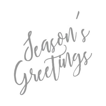 Season's greetings - handgeschreven brief citaat