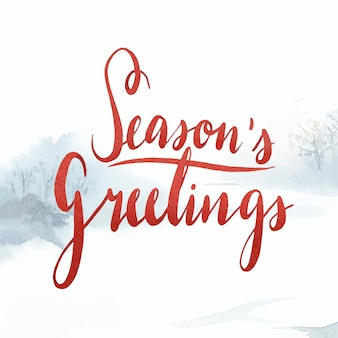 Seasons greetings aquarel typografie vector