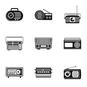 Seculiere iconen set, eenvoudige stijl