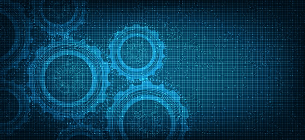 Security gears digital technology wiel en tandwiel