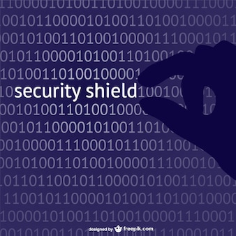 Security shield begrip vector
