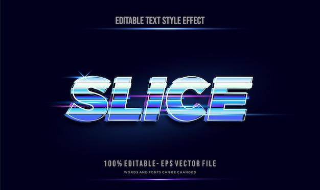 Segmenttype futuristische tekststijl effect. bewerkbare tekst