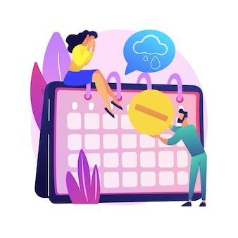 Seizoensgebonden affectieve stoornis behandeling abstracte concept illustratie. seizoensgebonden depressiebehandeling, affectieve stoornis, stemmingswisselingen, symptomen en behandeling, geestelijke gezondheid.